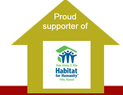 Logo for 'Proud Supporter of Habitat for Humanity'