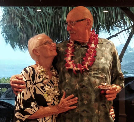 Happy clients, Rodger and Judy Doty, who Stacy and Disney Associates assisted with their real estate journey from Sonoma to Kona Oceanfront
